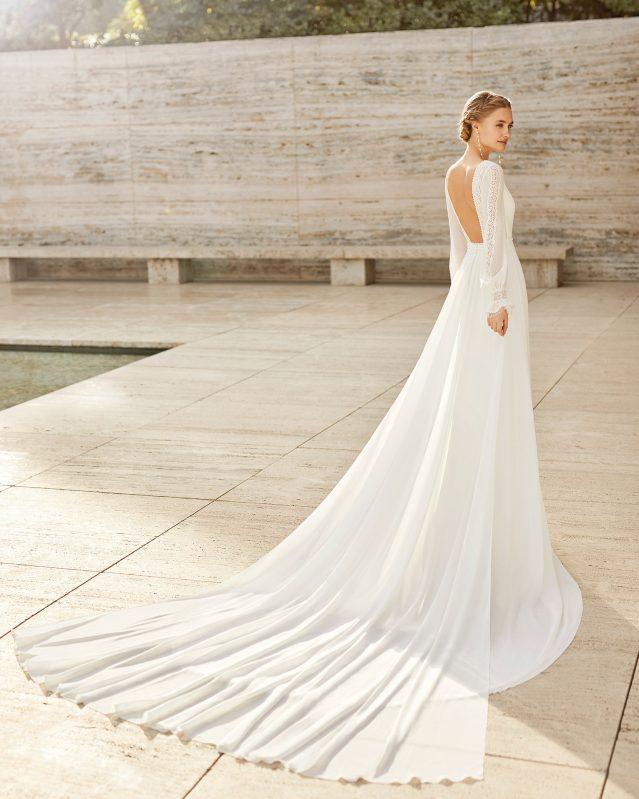 Vestido de boda de espalda descubierta Rosa Clará