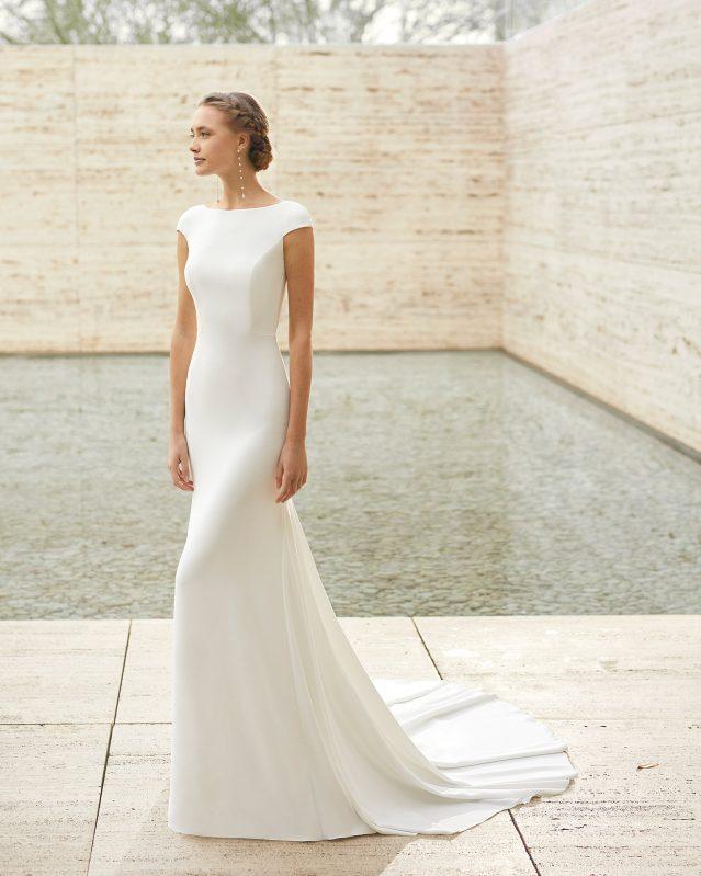 Vestido de boda minimalista Rosa Clará