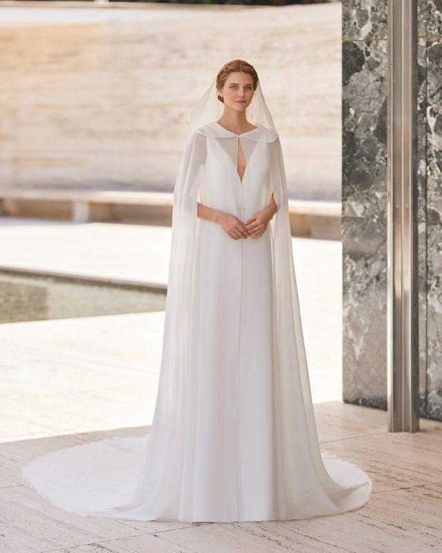 Vestidos de novia con capa Rosa Clará