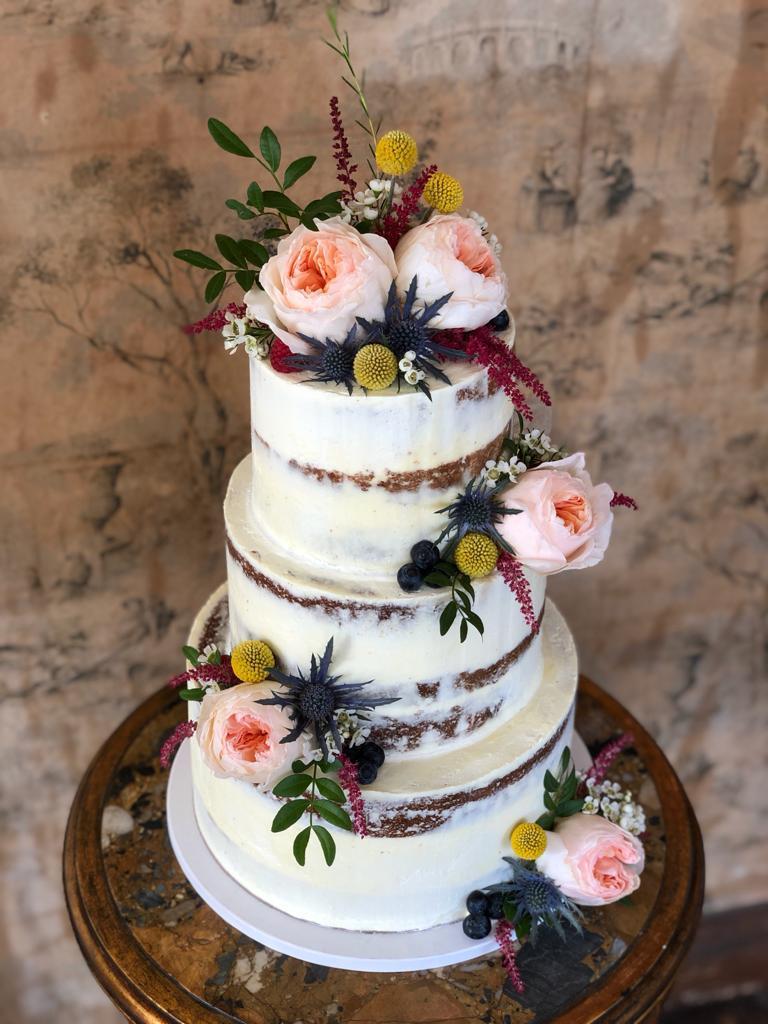 Tarta de boda flores