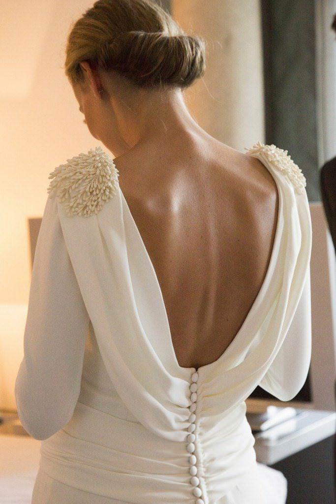 Aplicaciones en vestidos de novia