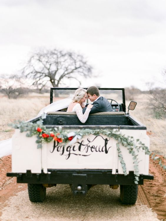 Wedding jeep