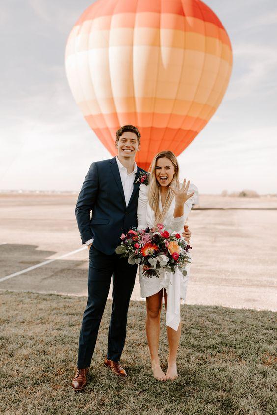 Wedding air balloon para llegar a tu boda